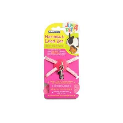 Rabbit Harness & Lead Pink