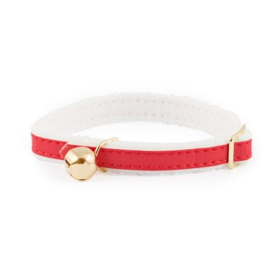 Reflective Cat Collar with Safety Elastic Red
