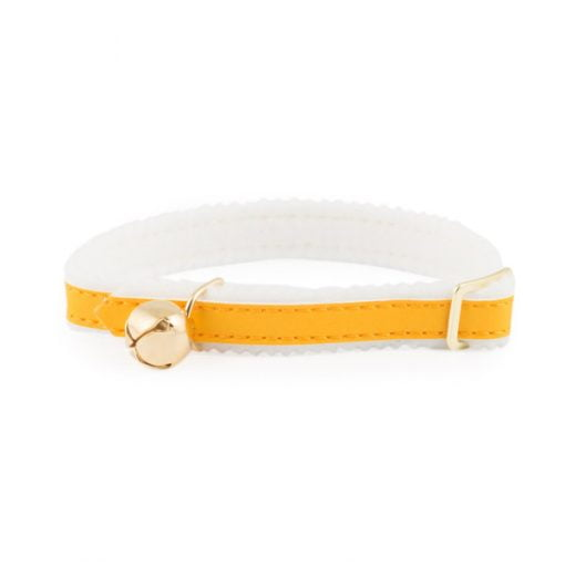 Reflective Cat Collar with Safety Elastic Yellow