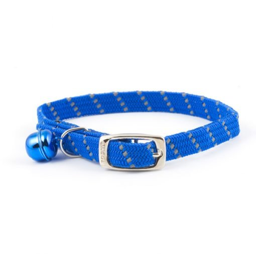 Reflective All Elastic Softweave Cat Collar Blue