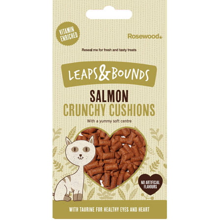 Leaps Bounds Crunchy Salmon Cushions