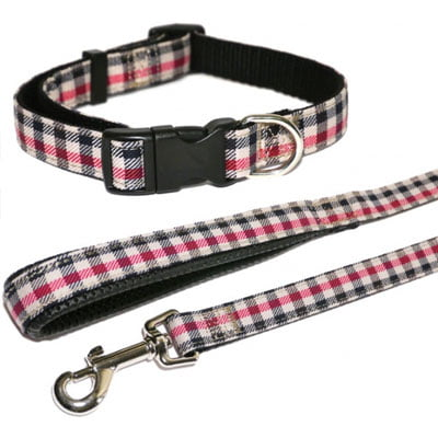 Wag n Walk Collar Red Check