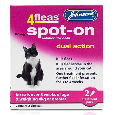 4Fleas Spot on for Cats Kittens Over 4kg