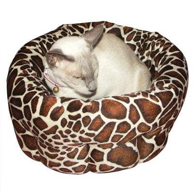 40 Winks Animal Print Round Bed