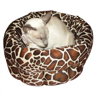 40 Winks Animal Print Round Bed