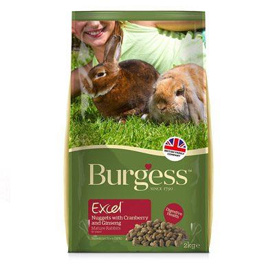 Burgess Excel Mature Rabbit Nuggets Cranberry Ginseng