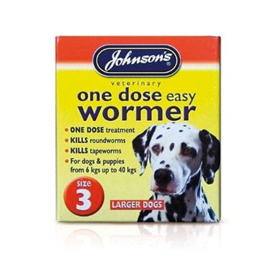 One Dose Easy Wormer Larger Dogs