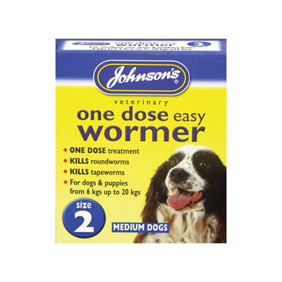 One Dose Easy Wormer Medium Dogs