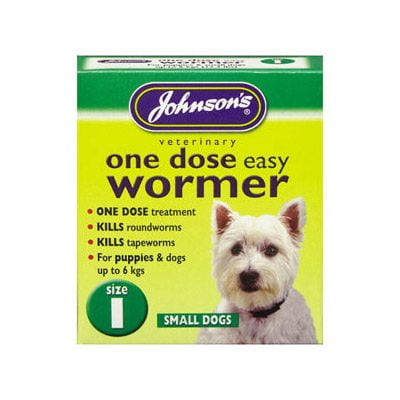 One Dose Easy Wormer Small Dogs