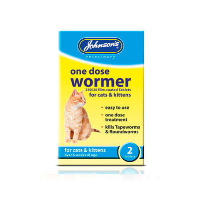 One Dose Wormer Cats Kittens