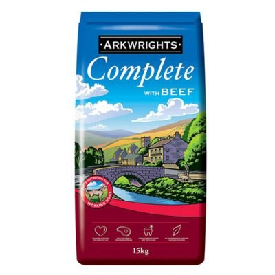 Arkwrights complete dog food - beef