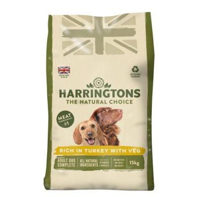 Harringtons adult dog food - turkey and rice flavour