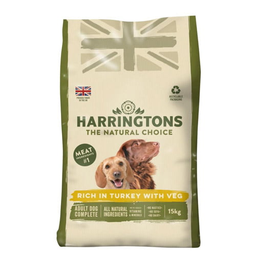 Harringtons adult dog food - turkey and rice flavour