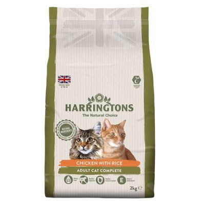 Harringtons cat food with chicken and rice