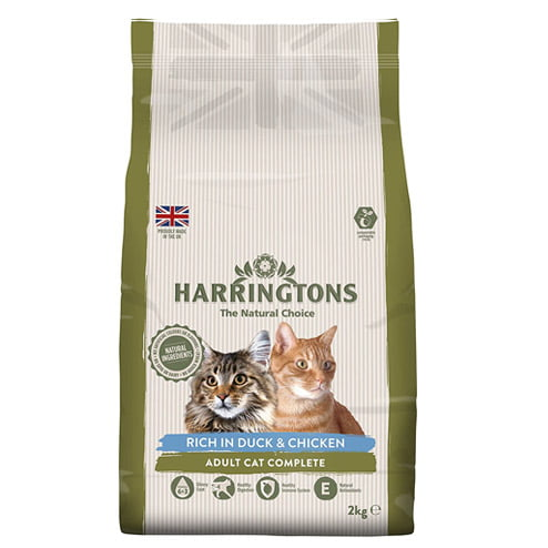 Harringtons cat food with duck and chicken