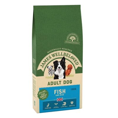 James Wellbeloved adult dog food - fish and rice
