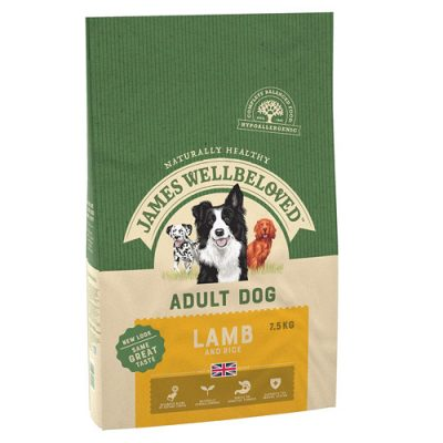 James Wellbeloved adult dog food - lamb and rice