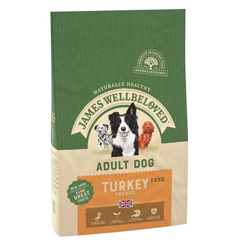 James Wellbeloved adult dog food turkey and rice