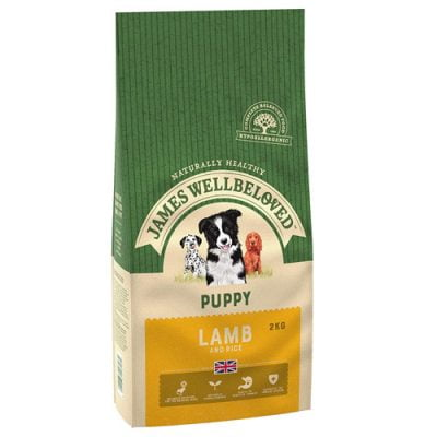 James Wellbeloved puppy food - lamb and rice flavour