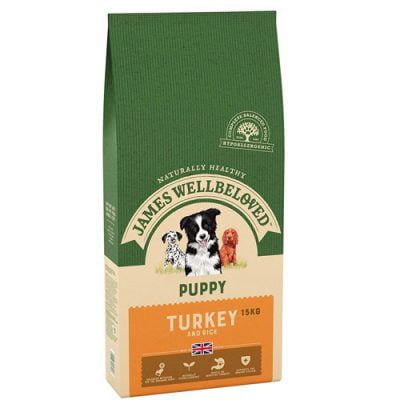 James Wellbeloved puppy food - turkey and rice flavour