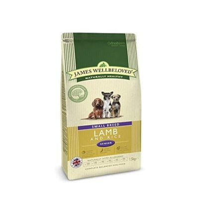James Wellbeloved small breed food - lamb and rice flavour